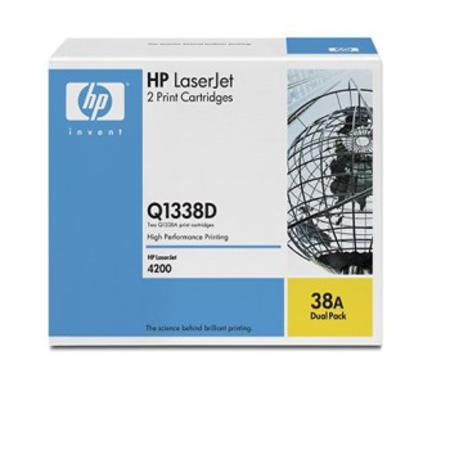 HP Q1338D Original Black Laser Toner Cartridge (Twin Pack)