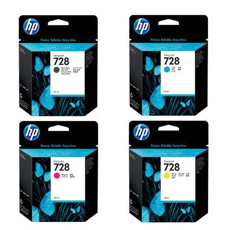 HP 728 Full Set Standard Capacity Original Inks