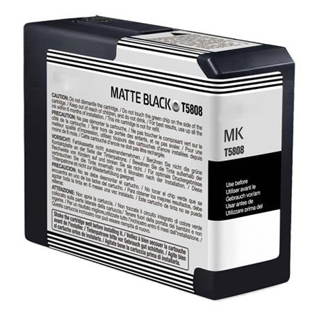 Epson T580800 (T5808) Matte Black Remanufactured Ink Cartridge