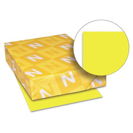 Neenah Paper Astrobrights Colored Paper  24lb  8-1/2 x 11  Lift-Off Lemon  500 Sheets/Ream