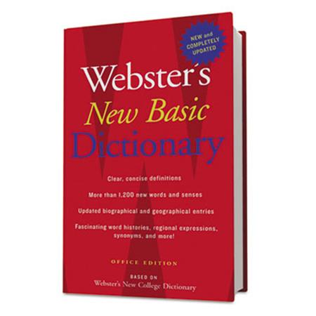 Houghton Mifflin Websters New Basic Dictionary  Office Edition  Paperback  896 Pages