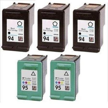 Compatible Multipack HP 94/95 2 Full set + 1 EXTRA Black Ink Cartridges