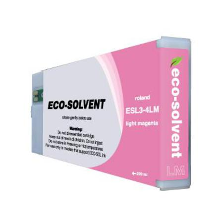 Roland ESL4-4LM Light Magenta Compatible Eco-Sol MAX 2 Standard Capacity Ink Cartridge