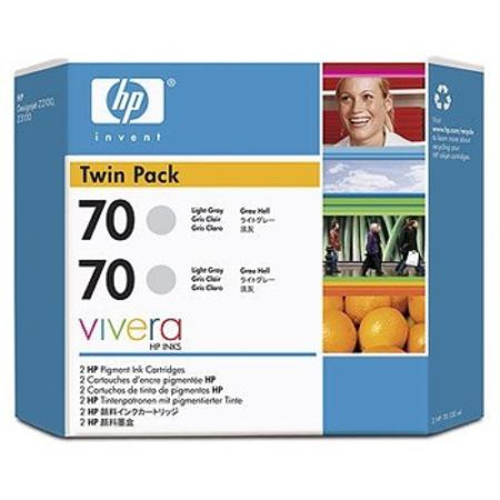 HP 70 (CB342A) Original Light Gray Ink Cartridge (Twin Pack)