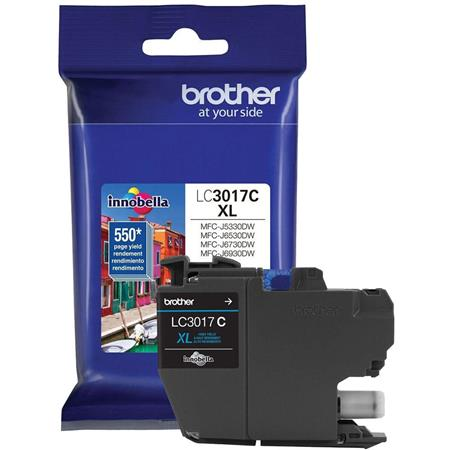 Brother LC3017C Cyan Original High Capacity Ink Cartridges