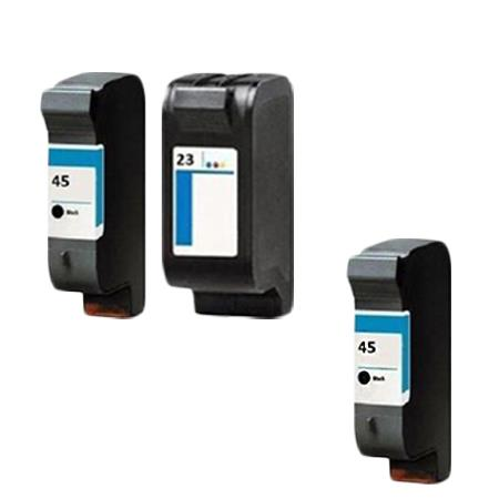 Compatible Multipack HP 45/23 Full Set + 1 EXTRA Black Ink Cartridges