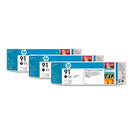 HP 91 (C9481A) Original Photo Black Ink Cartridge (3 Pack)