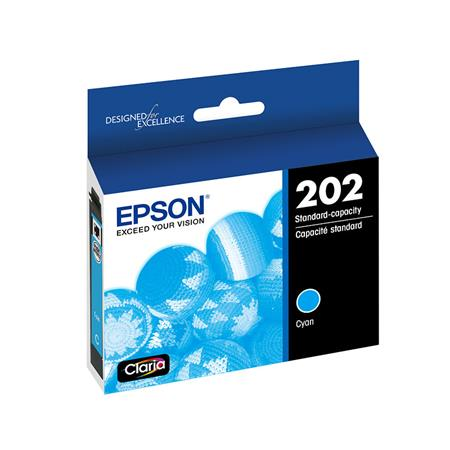 Epson 202 (T202220-S) Cyan Original Standard Capacity Ink Cartridge