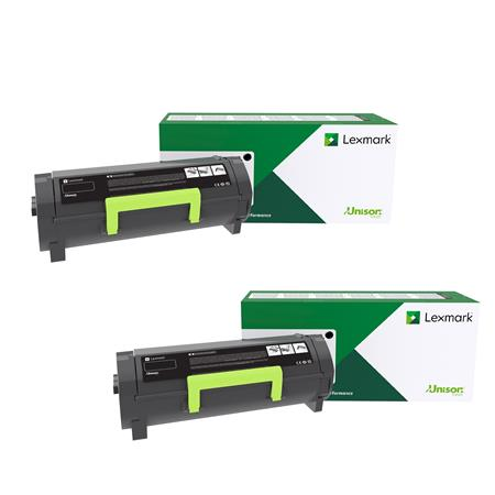 Lexmark B341H00 Black Original High Yield Return Program Toner Cartridge Twin Pack