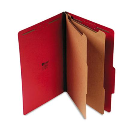 Pressboard Classification Folders Legal Six-Section Ruby Red 10/Box