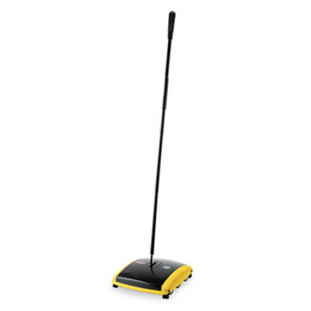 Rubbermaid Commercial Dual Action Sweeper Boar/Nylon Bristles 42 inch Steel/Plastic Handle Black/Yellow