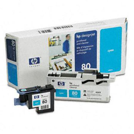 HP 80 Original Cyan Printhead and Cleaner (C4821A)