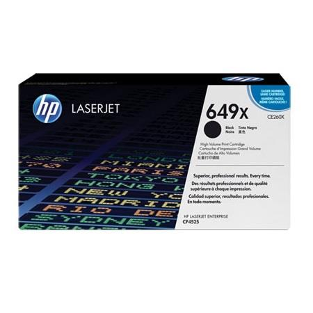 HP 649X (CE260X) Black Original High Capacity Toner Cartridge