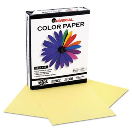 Universal Premium Color Copy/Laser Paper Canary  Letter 500 Sheets