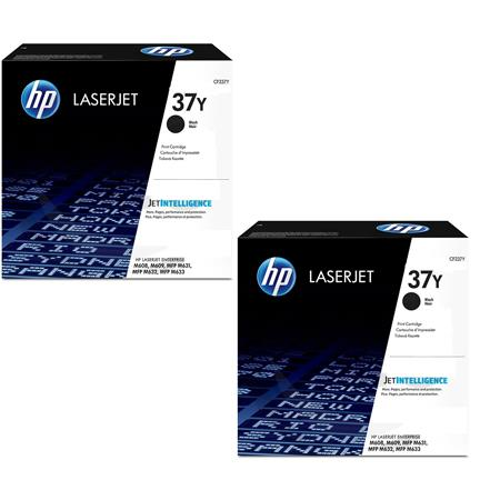 HP 37Y Black Original Extra High Capacity Toner Cartridges Twin Pack