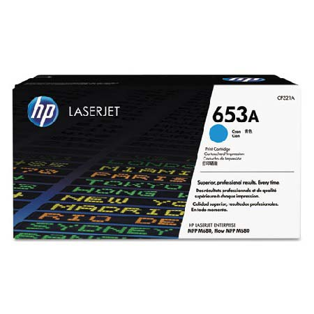 HP 653A Cyan Original Toner Cartridge (CF321A)