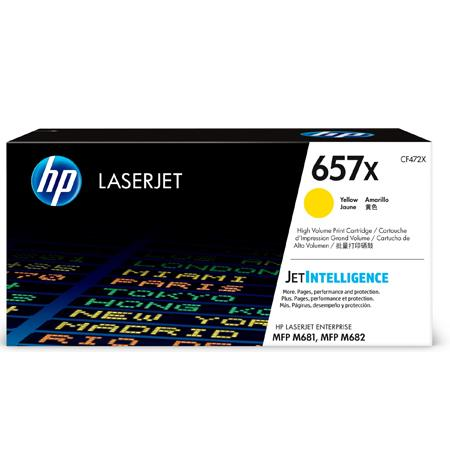 HP 657X (CF472X) Yellow Original High Capacity Toner Cartridge
