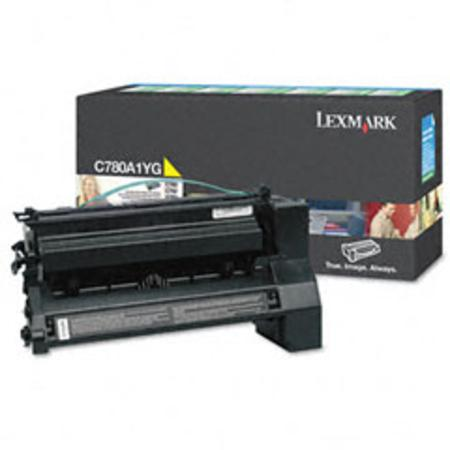 Lexmark C780A1YG Yellow Original Return Program  Laser Toner Cartridge