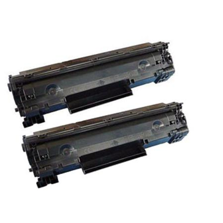 35A Black Remanufactured Toner Cartridges Twin Pack