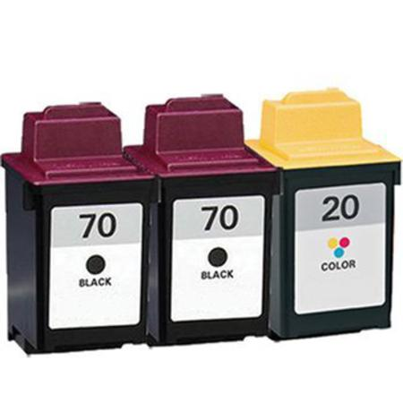 Clickinks No.70/No.20 Full Set + 1 EXTRA Black Remanufactured Ink