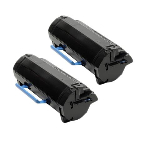 Clickinks 331-9807 Black Remanufactured High Capacity Toners Twin Pack