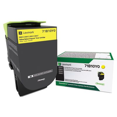 Lexmark 71B10Y0 Yellow Original Standard Yield Return Program Toner Cartridge