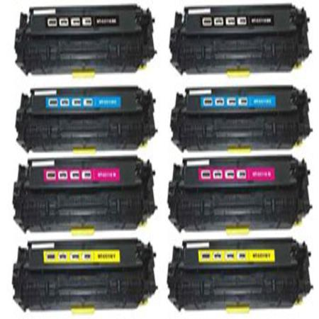 CRG-118 BK/C/M/Y Full Set + 1 EXTRA Black Remanufactured Toner Cartridge
