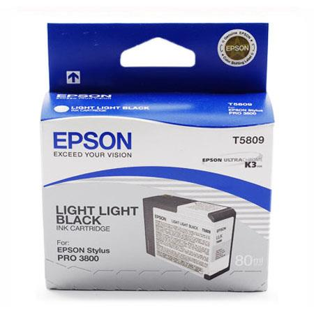 Epson T5809 (T580900) Original Light Light Black Ink Cartridge