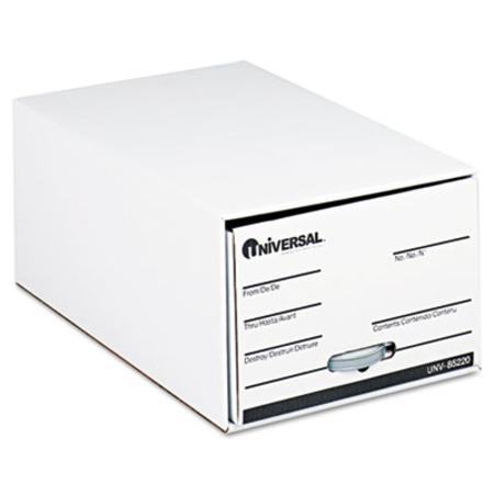 Universal Storage Drawer Files  Legal  Fiberboard  15Inch x 24Inch x 10Inch  White  6/Ctn