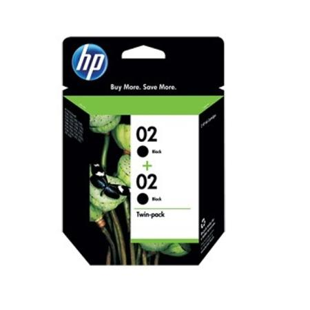 HP 02 Black Original Twin Pack Ink Cartridges