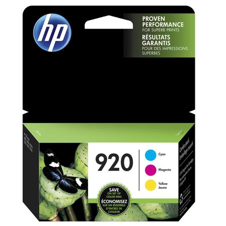 HP 920 (N9H55FN) Color Original Officejet Ink Cartridge Multipack - 3 Pack