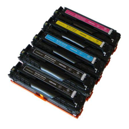 Compatible Multipack HP CB540A/43A Full Set + 1 EXTRA Black  Toner Cartridges
