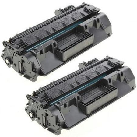 80X Black Remanufactured Toner Cartridges Twin Pack