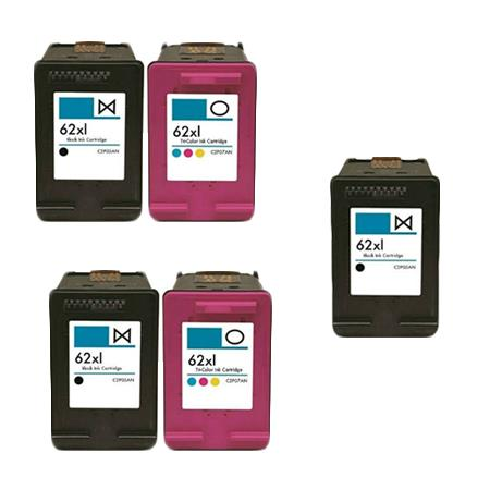 Clickinks 62XL 2 Full Sets + 1 EXTRA Black Remanufactured Inks