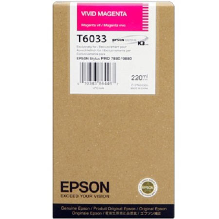 Epson T6033 (T603300) Original Vivid Magenta Ink Cartridge