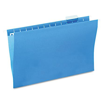 Hanging File Folders 1/5 Tab 11 Point Stock Legal Blue 25/Box