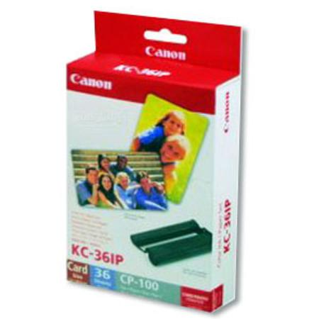 Canon KC 36IP Color Ink and 2 X 3.5 Paper Set (36 Sheets)