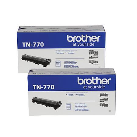 Brother TN770 Black Original Extra High Capacity Toner Cartridges Twin Pack