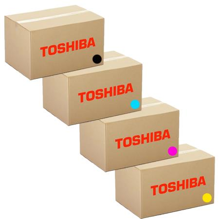 Toshiba TFC505UK Full Set Remanufactured Toner Cartridges