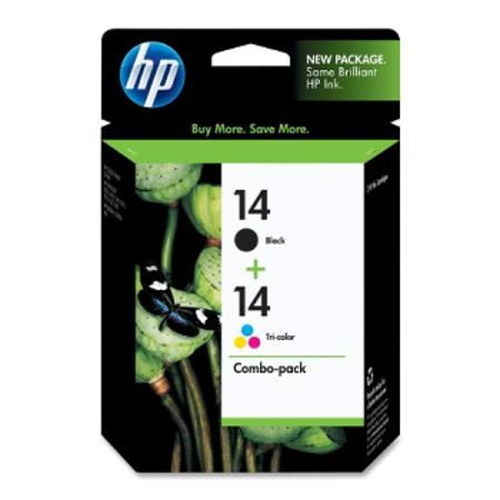 HP 14 Black and Tri-Color Original Combo-pack Ink Cartridges