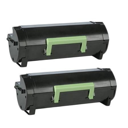 Compatible Twin Pack Lexmark 56F1H00 Black High Yield Toner Cartridge