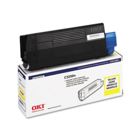 OKI 43034801 Yellow Original Toner Cartridge