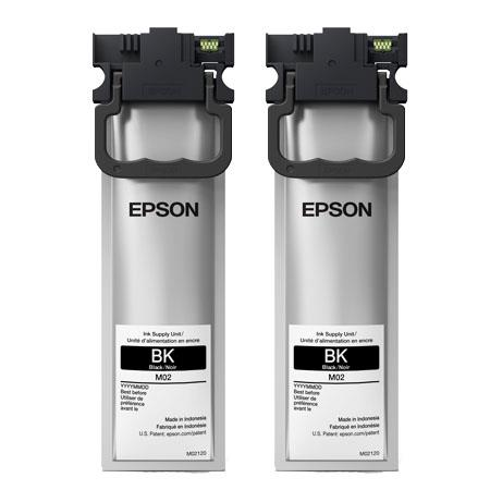 Epson M02 (M02120) Black Original Standard Capacity Ink Cartridges Twin Pack