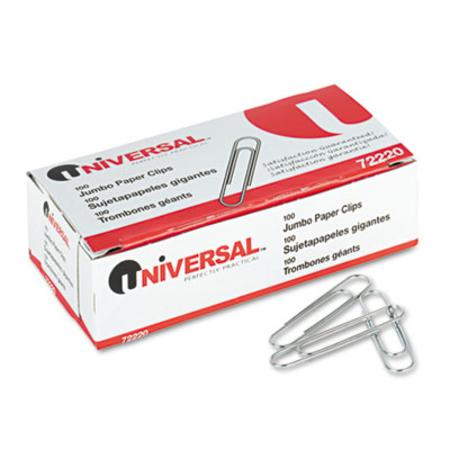 Smooth Paper Clips  Wire  Jumbo  Silver  100/Box  10 Boxes/Pack