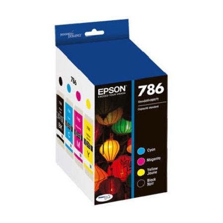 Epson 786 B/C/M/Y Original Ink Cartridges - 4 Pack