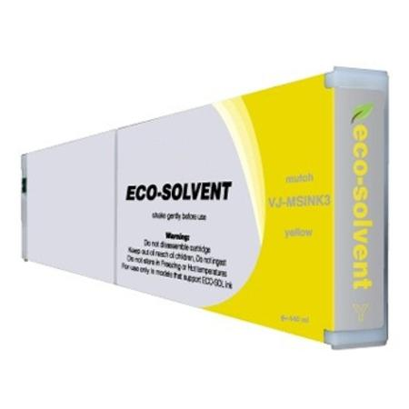 Mutoh VJ-MSINK3-YE Compatible Eco-Solvent Yellow High Capacity Inkjet Cartridge