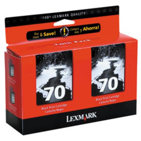 Lexmark Twin-Pack No. 70 (15M1330) Black Original Print Cartridge