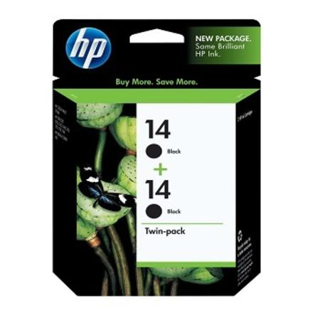 HP 14 Black Original Twin Pack Ink Cartridges