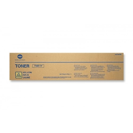 Konica Minolta TN611 Yellow Original Toner Cartridge (A070230)