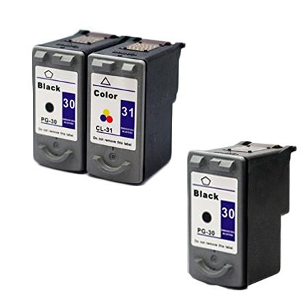 PG-30/PG-31 Full Set + 1 EXTRA Black Remanufactured Inks